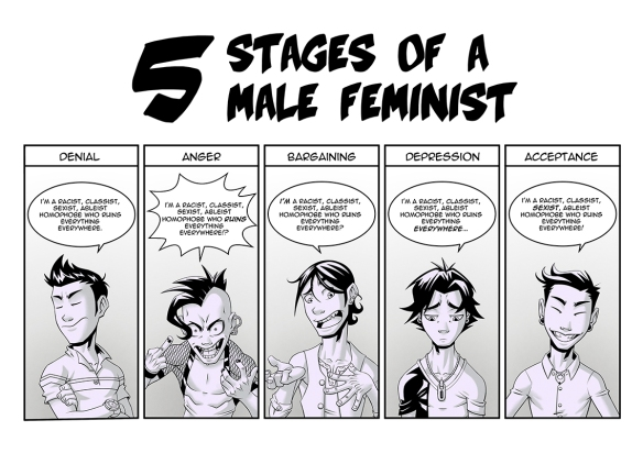 five stages of male feminist